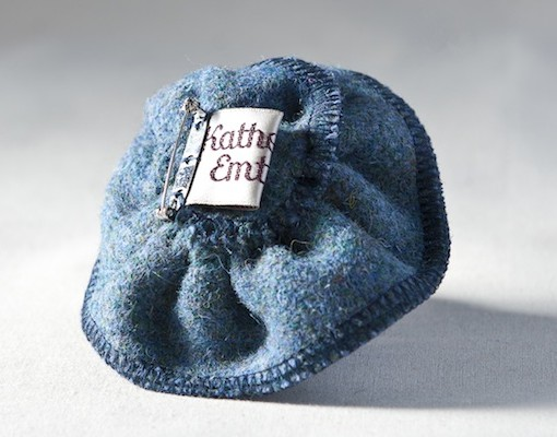 Katherine Emtage Moonlit Blue Corsage Harris Tweed Reverse