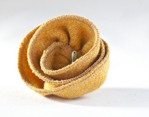 Katherine Emtage Mustard Corsage Harris Tweed 1