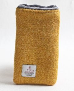 Katherine Emtage Mustard Phone Case Harris Tweed 2