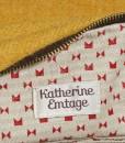 Katherine Emtage Mustard Ruche Slouch Harris Tweed Lining Detail