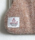 Katherine Emtage Pale Salmon Clasp Purse Harris Tweed Label Detail