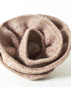 Katherine Emtage Pale Salmon Corsage Harris Tweed 1