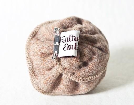 Katherine Emtage Pale Salmon Corsage Harris Tweed Reverse