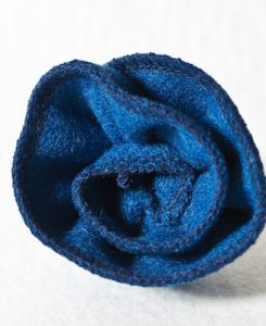 Katherine Emtage Peacock Blue Corsage Harris Tweed 1