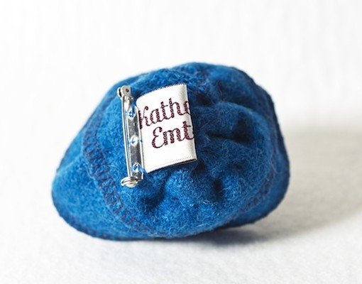 Katherine Emtage Peacock Blue Corsage Harris Tweed 3