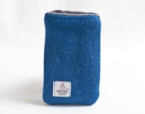 Katherine Emtage Peacock Blue Phone case Harris Tweed 2