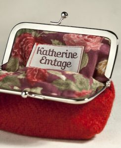 Katherine Emtage Poppy Clasp Purse Borders Tweed Open