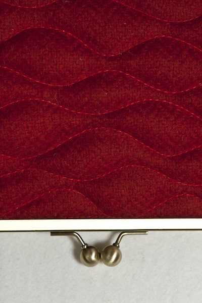 Katherine Emtage Poppy Sargasso Clutch Detail Borders Tweed
