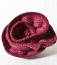 Katherine Emtage Raspberry Herringbone Corsage Harris Tweed 1
