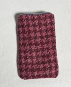 Katherine Emtage Raspberry Houndstooth Phone Case Borders Tweed