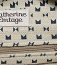 Katherine Emtage Ruche Slouch Blue Black Lining