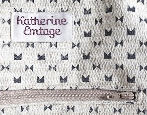 Katherine Emtage Ruche Slouch Charcoal Lining Detail