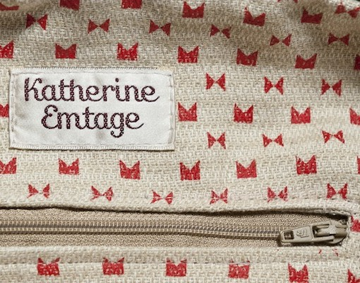 Katherine Emtage Ruche Slouch Lining Red