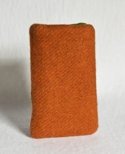 Katherine Emtage Tangerine Phone Case Harris Tweed Front