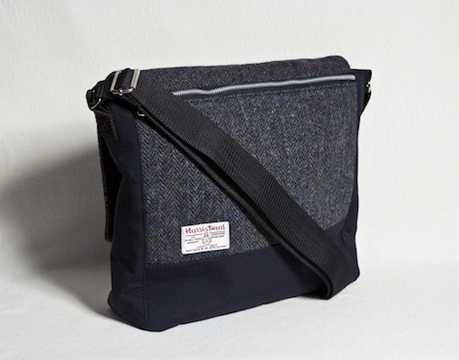 Katherine Emtage Ultimate Man Bag Black Harris Tweed PU Nylon reverse