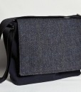 Katherine Emtage Ultimate Man Bag Black Harris Tweed PU Nylon