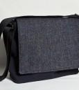 Katherine Emtage Ultimate Man Bag Black Harris Tweed PU Nylon