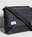 Katherine Emtage Ultimate Man Bag Black Harris Tweed Scottish Black Leather Reverse