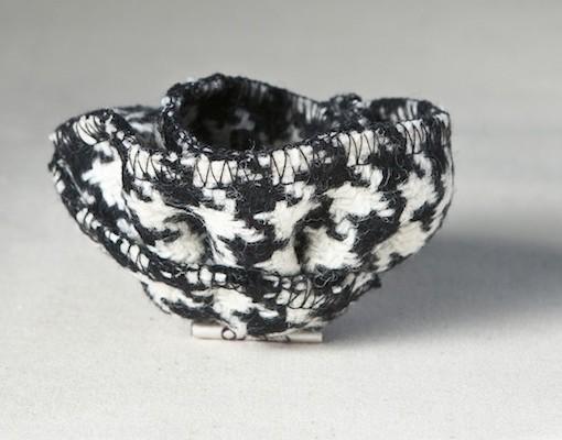 Katherine Emtage black and white houndstooth Borders Tweed Corsage 2