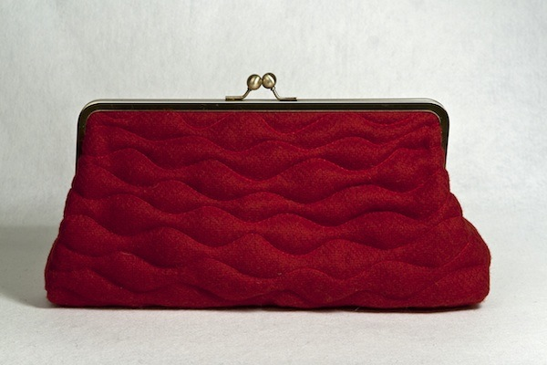 Katherine Emtage poppy Borders tweed Sargasso clutch