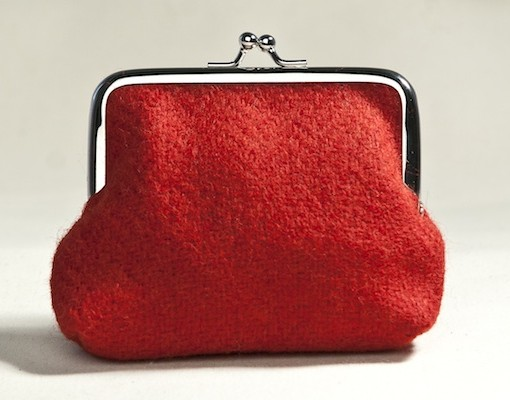 Katherine Emtage poppy Borders tweed clasp purse