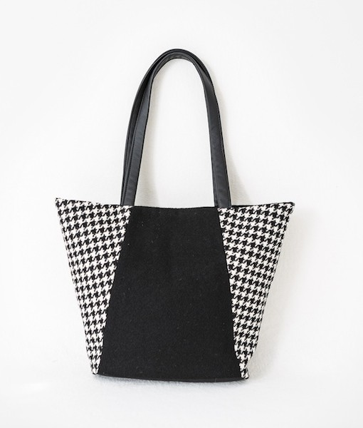 Katherine Emtage Anna Day Bag black and white front