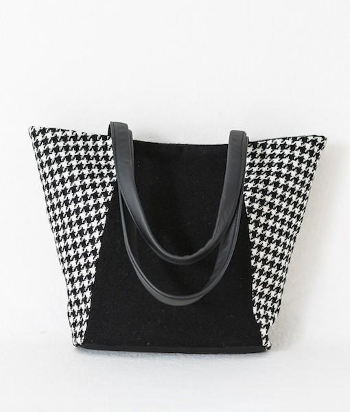 Katherine Emtage Anna Day Bag black andwhite front