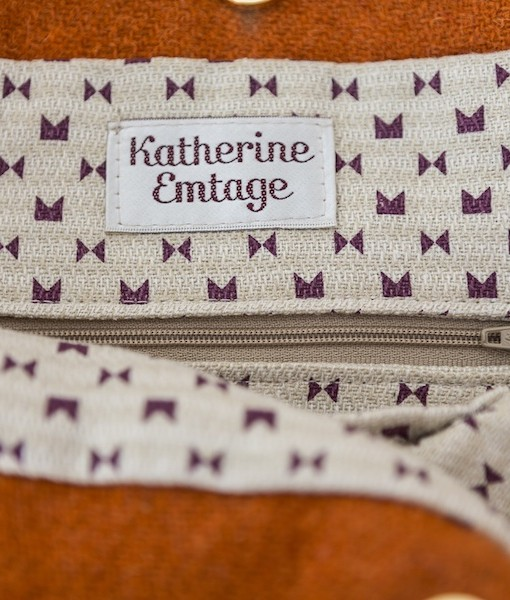 Katherine Emtage Anna Day Bag internal detail Harris Tweed