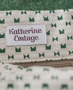 Katherine Emtage Anna Day Bag internal detail green