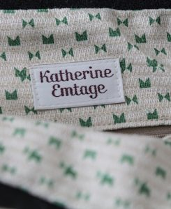 Katherine Emtage Anna Day Bag internal detail hondstooth