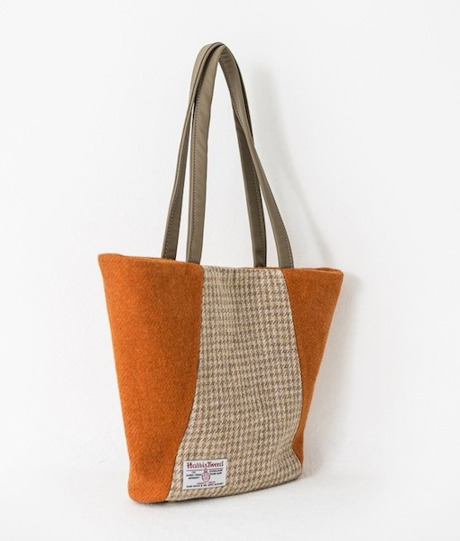 Katherine Emtage Anna Day Bag side reverse Harris Tweed