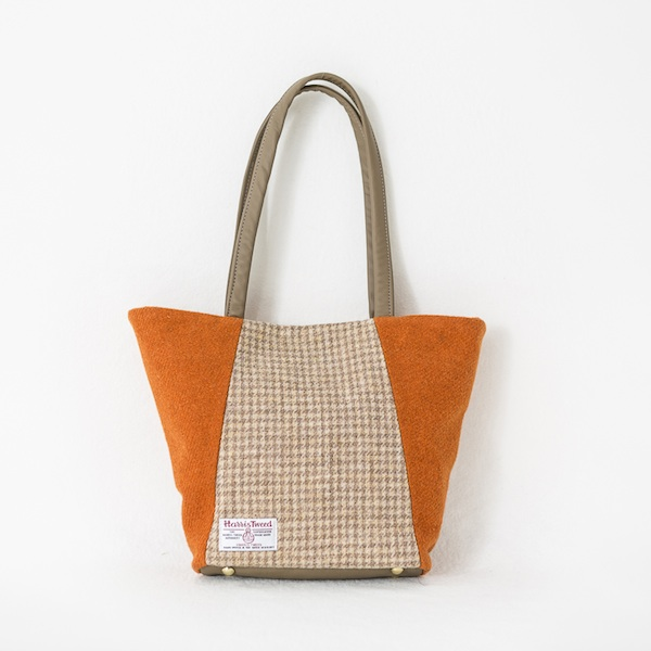 8da1a2cbfc Anna Day Bag - Tangerine and Biscuit Harris Tweed - Katherine Emtage