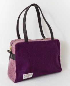 Katherine Emtage Elsie Day Bag Grape Heather Harris Tweed