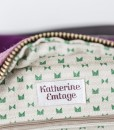 Katherine Emtage Elsie Day Bag grape heather detail Harris Tweed