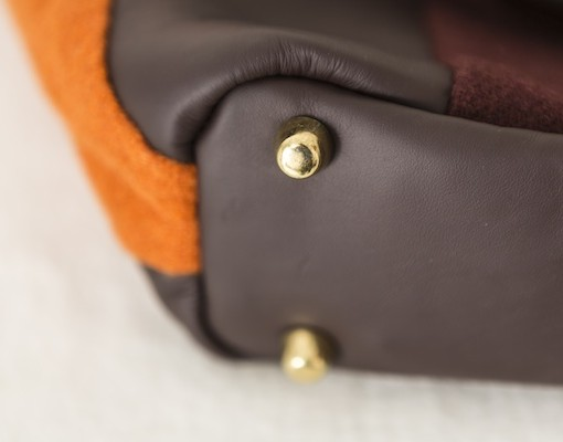 Katherine Emtage Freda Day Bag base detail tangerine cherry
