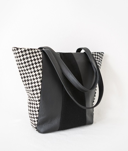 Katherine Emtage Freda Day Bag black and white side