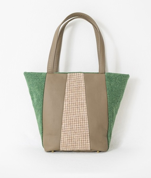 Katherine Emtage Freda Day Bag front Harris Tweed