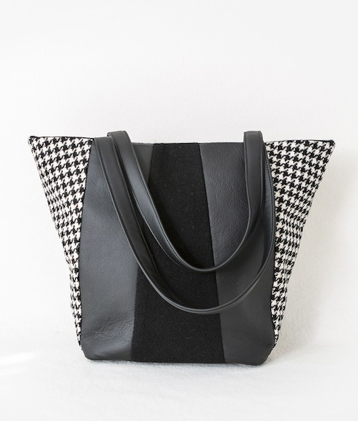 Katherine Emtage Freda Day Bag front black and white