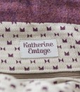 Katherine Emtage Freda Day Bag internal detail Harris Tweed heather