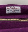 Katherine Emtage Freda Day Bag top detail Harris Tweed grape