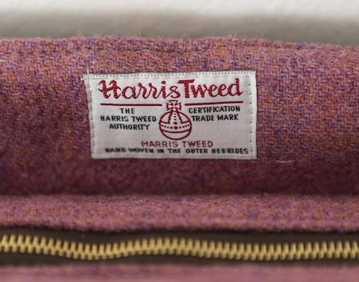 Katherine Emtage freda Day Bag top detail heather harris Tweed