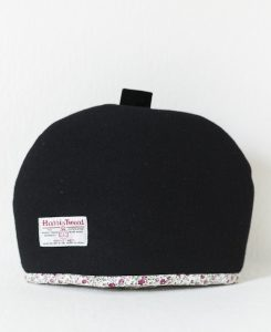Katherine Emtage Harris Tweed Tea Cosy black back