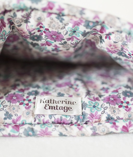 Katherine Emtage inside heather Harris Tweed tea cosy
