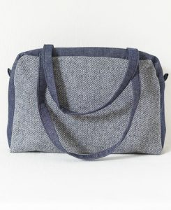 Katherine Emtage Elsie Day Bag Elgin blue and denim