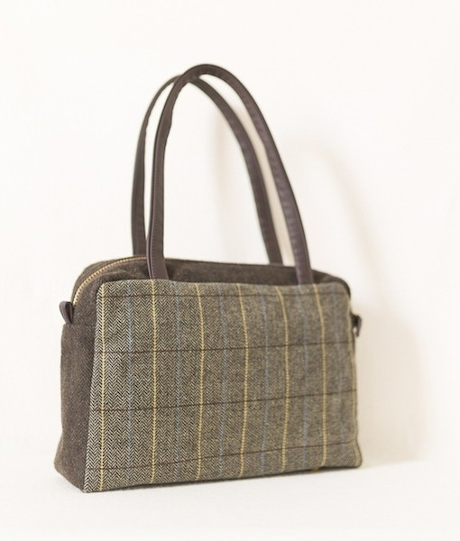 Katherine Emtage Elsie Day Bag limited edition brown herringbone check 2