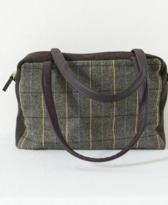 Katherine Emtage Elsie Day Bag limited edition brown herringbone check