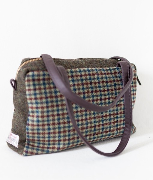 Katherine Emtage Elsie Day Bag limited edition green brown angle