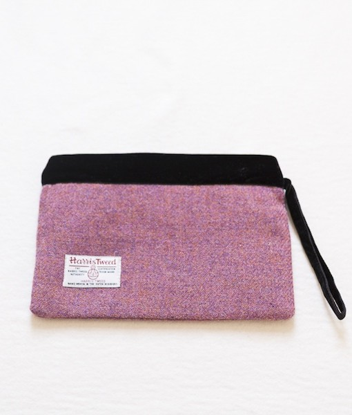 Katherine Emtage heather Harris tweed large pochette reverse1