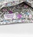 Katherine Emtage blue lovat Harris Tweed large tea cosy inside detail