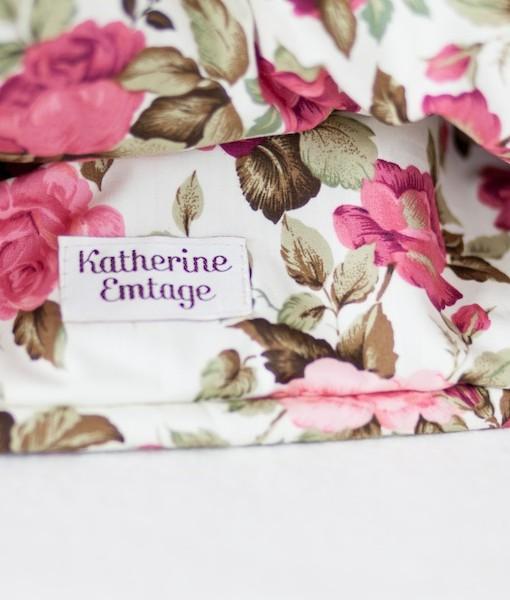 Katherine Emtage dark cherry Harris Tweed large tea cosy detail